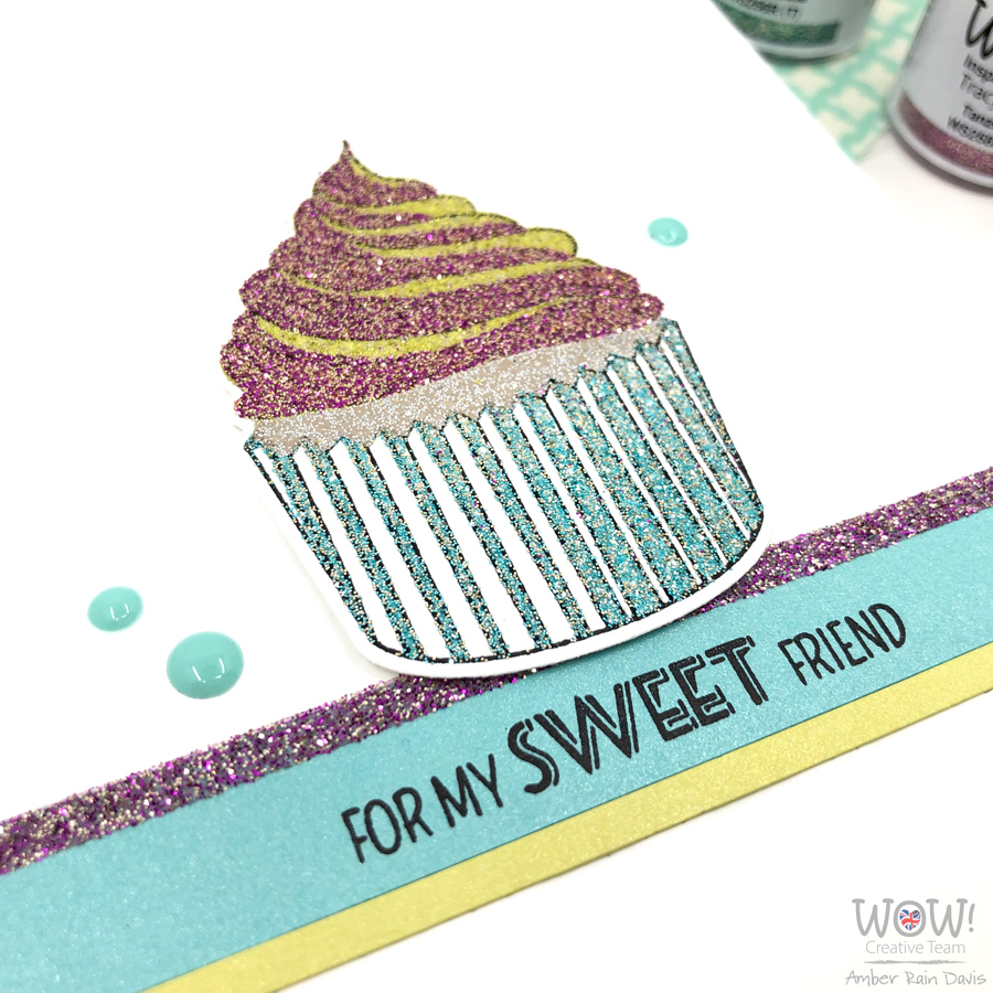 Glitter embossing with layer stamps