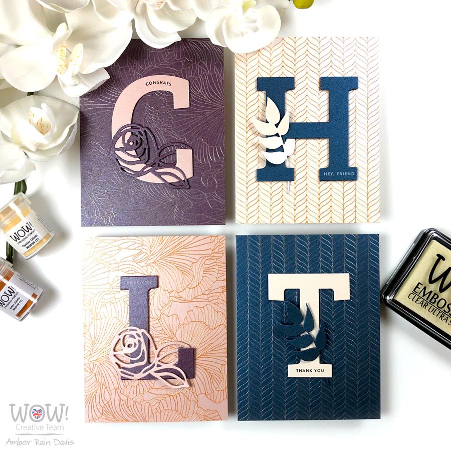 WOW! Elegant CAS Glintz Embossing Cards