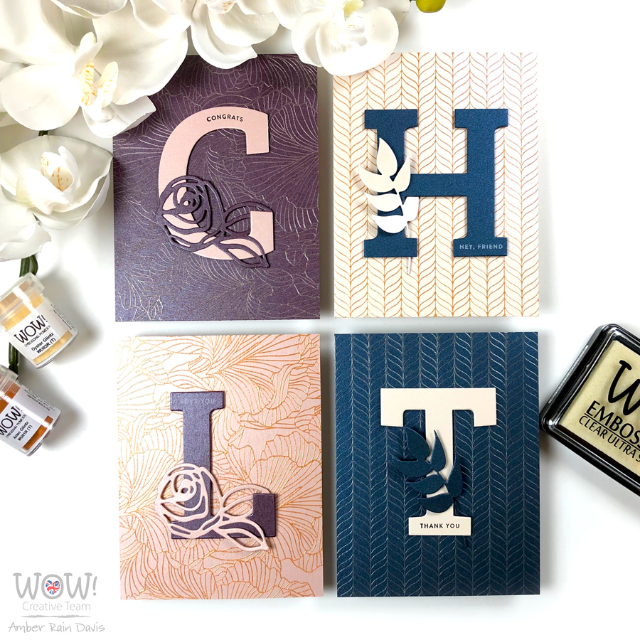 WOW! Elegant CAS Glintz Embossing Cards