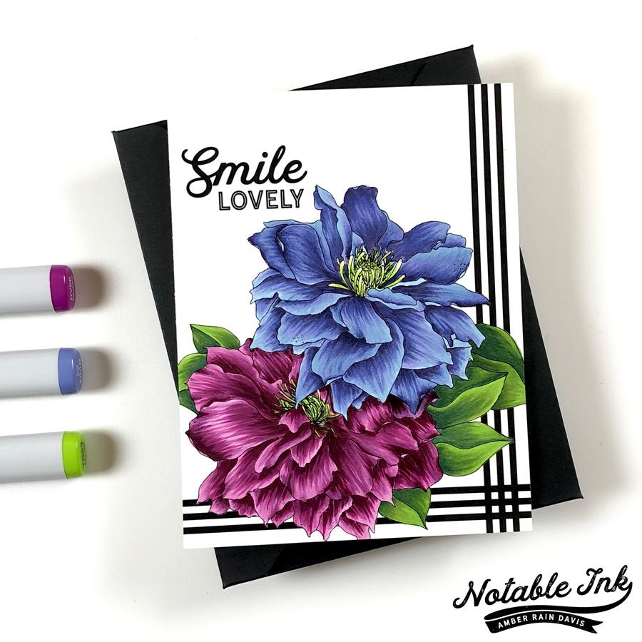 Alex Syberia Design Clematis Digital Stamp