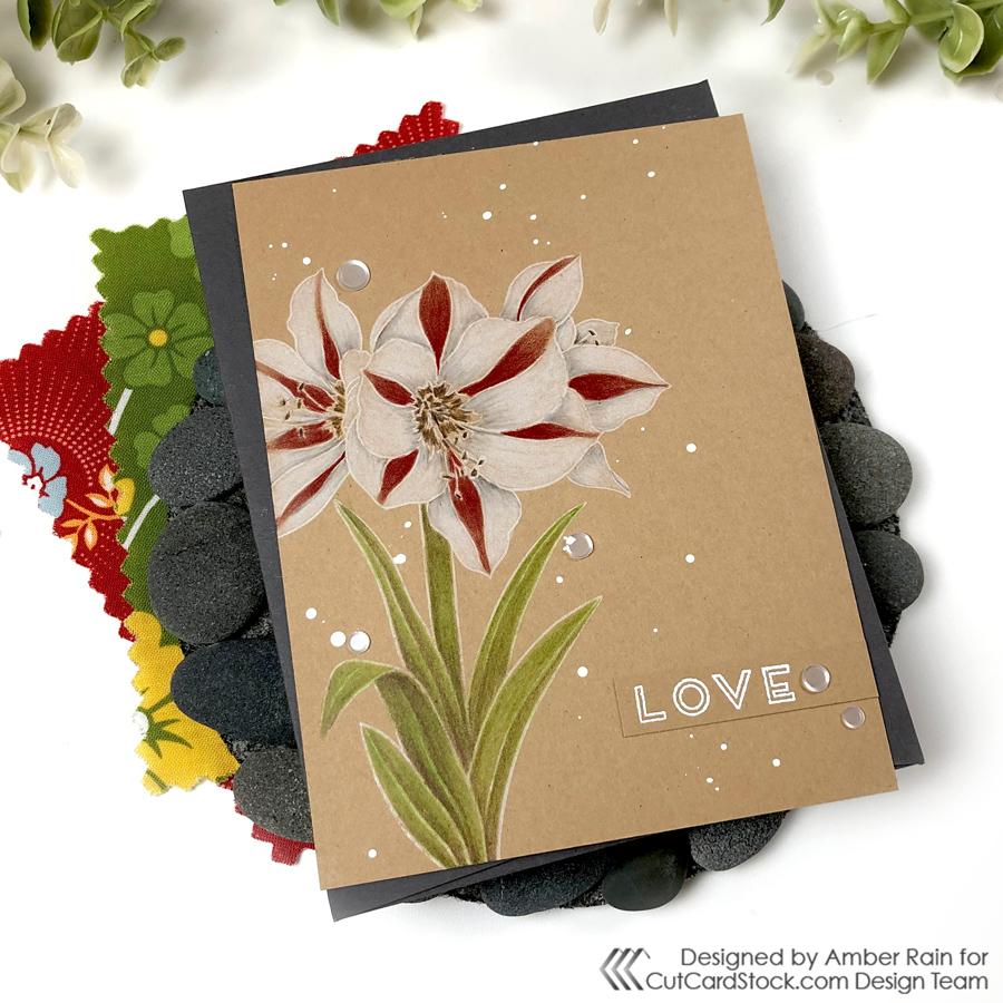 Mondo Amaryllis Valentine's Day Card