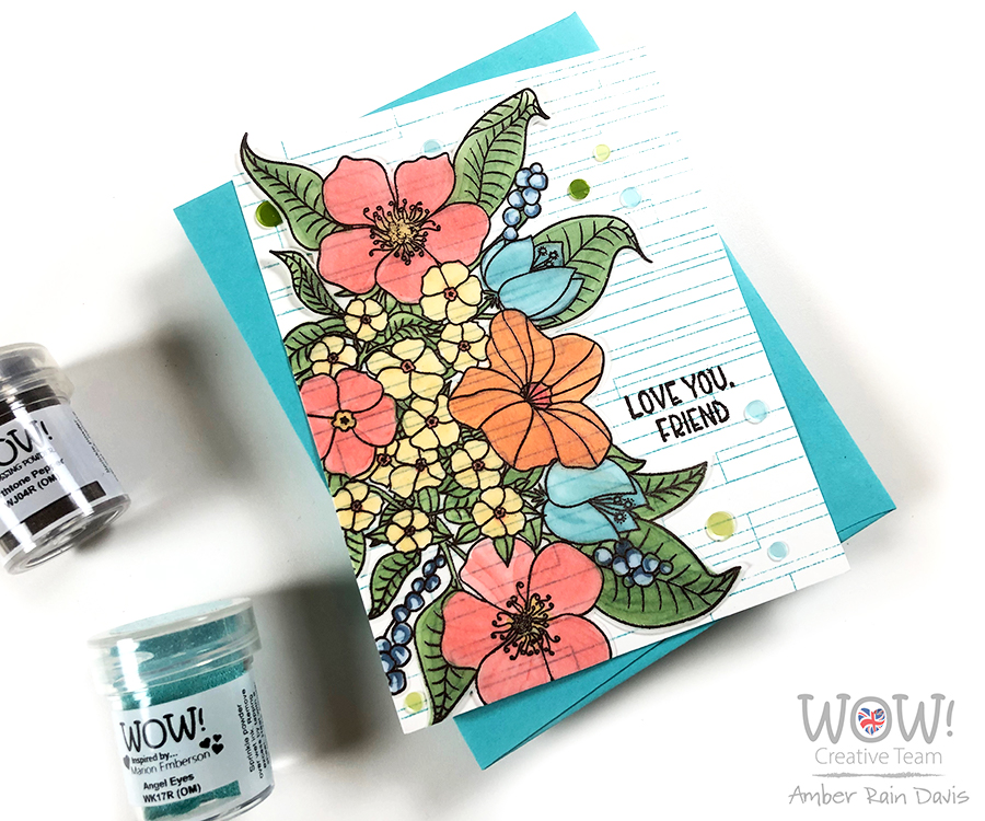 WOW! Emboss & Copic Color Vellum