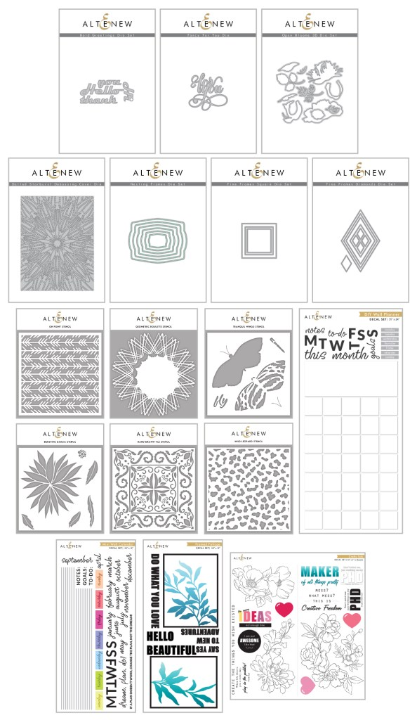 Altenew February 2020 Stencil, Stand-Alone Die, and Decal Release
