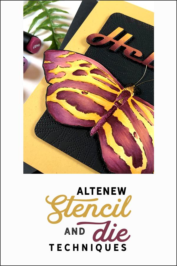 Pinterest | Altenew Stencil and Die Techniques