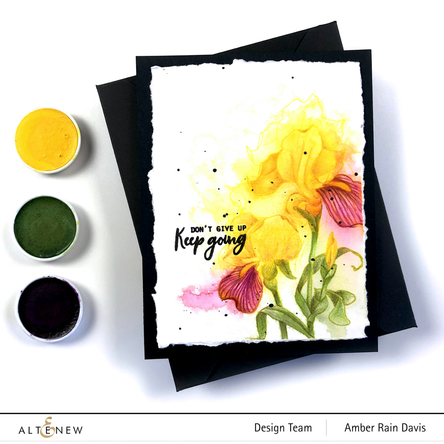 Altenew Paint-a-Flower: Iris watercolor card