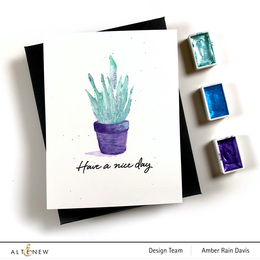 Altenew Color Connection with Amber | CAS One Layer Cards Watercolor