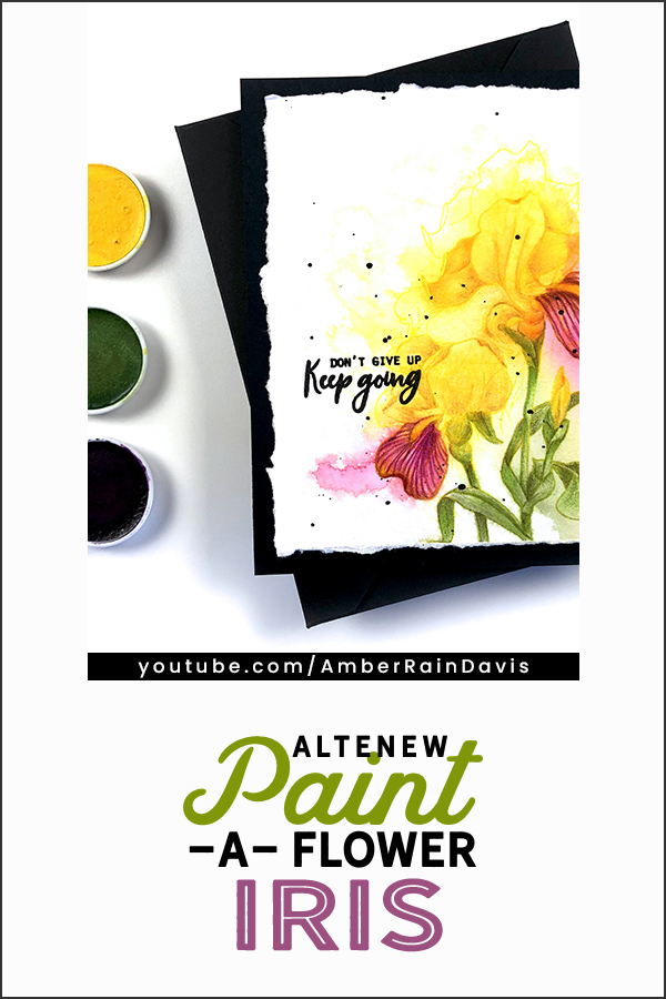 PINTEREST | Altenew Paint-a-Flower: Iris 2 Ways
