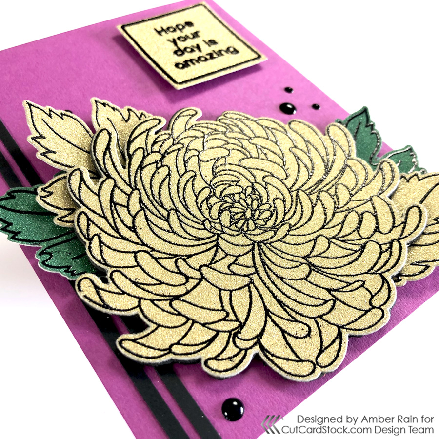 Tips to heat emboss glitter cardstock