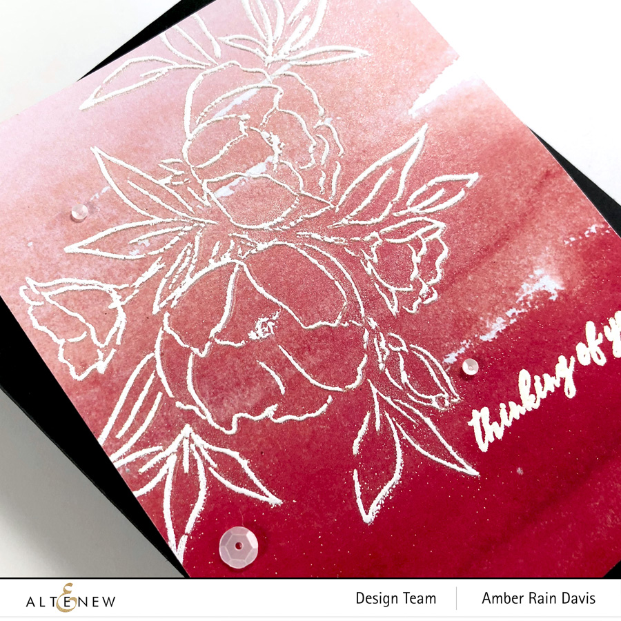 Altenew Delicate Bouquet Stamp Set | Clean & Graphic No Coloring Card Design
