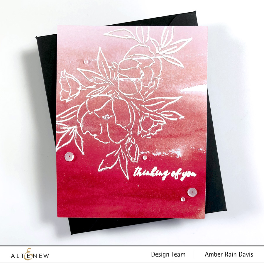 Altenew Delicate Bouquet Stamp Set & Fuchsia Soiree Paper Pack