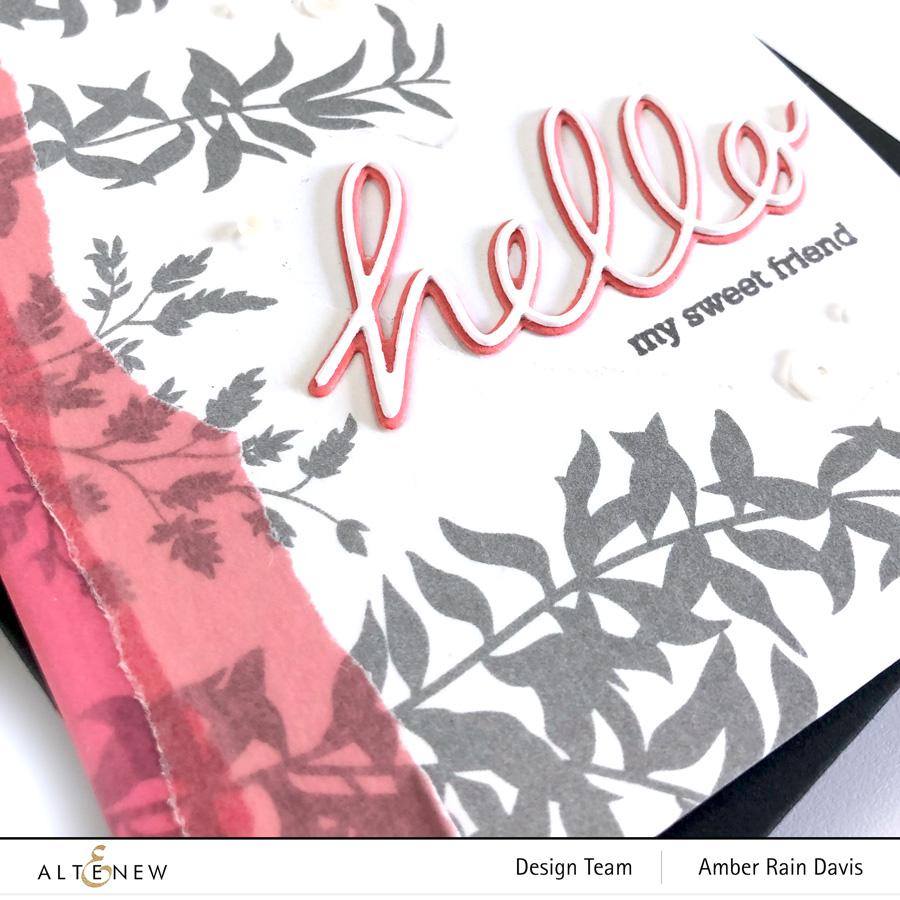 Altenew Handwritten Hello Die Set