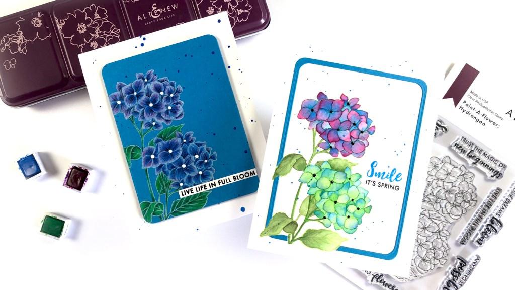 Altenew Paint-a-Flower: Hydrangea Two Ways