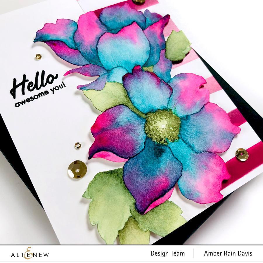 Altenew Statement Flowers Stamp Set Watercolor