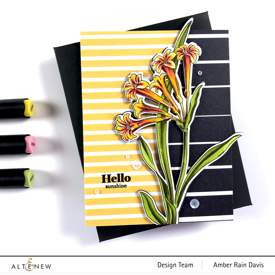 Altenew Wild Flora, Gradient Lines Washi Tape, A Love of Stripes Set C Paper Pack