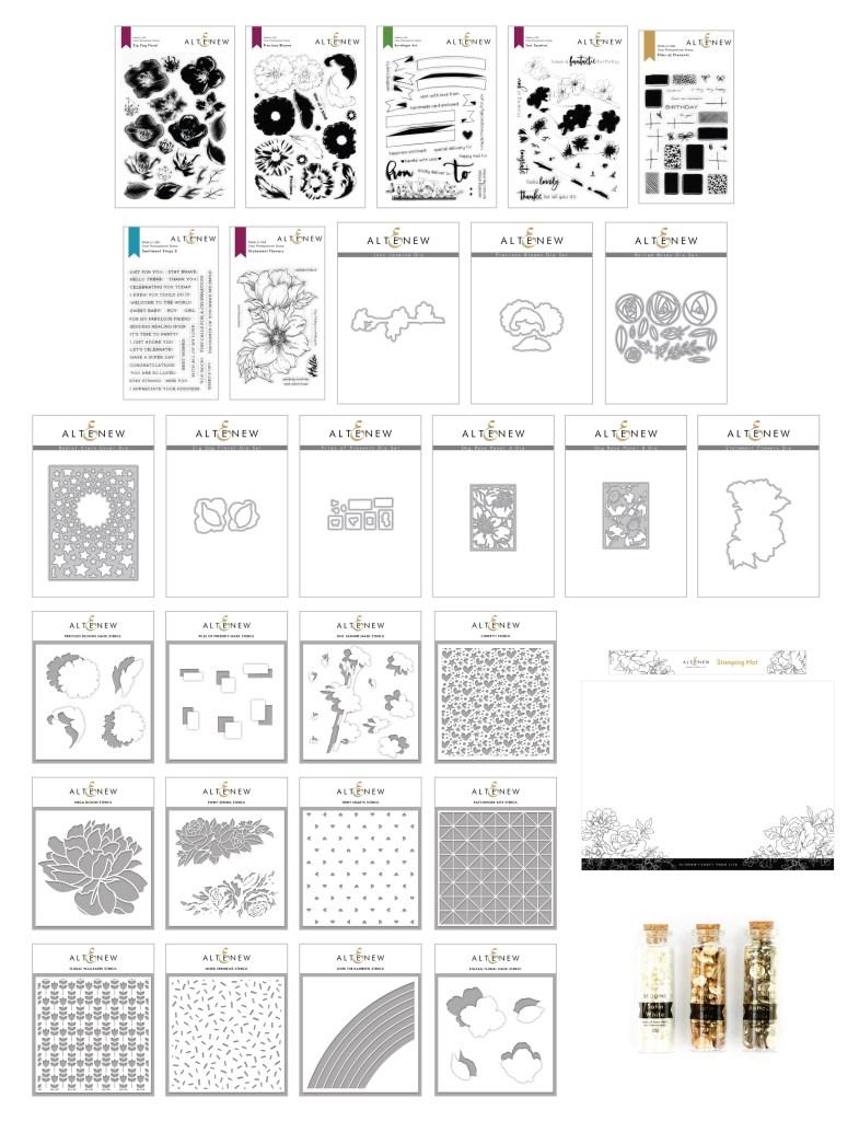 Altenew Make a Statement Release April 2020 | Floral Stamps & Stencils