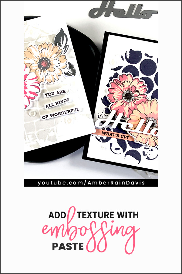 PINTEREST | Add texture with embossing paste