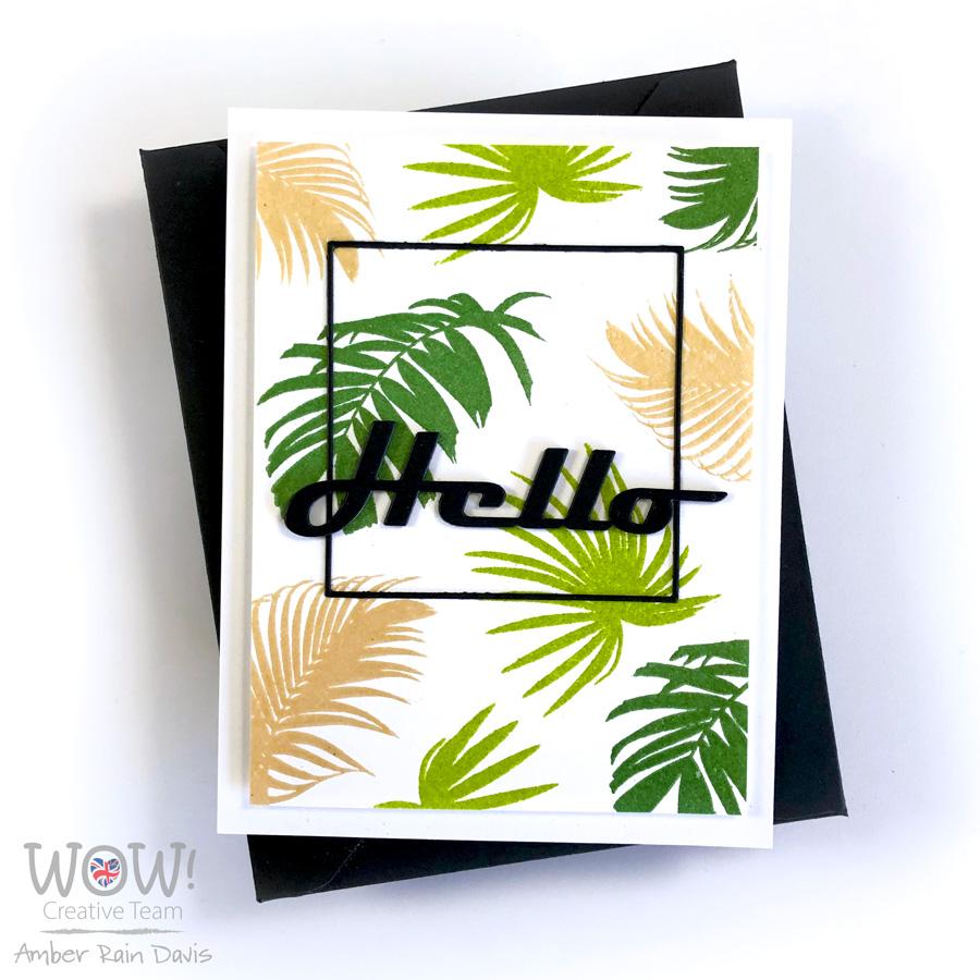 WOW! Embossed Altenew Wild Ferns Stamp Set