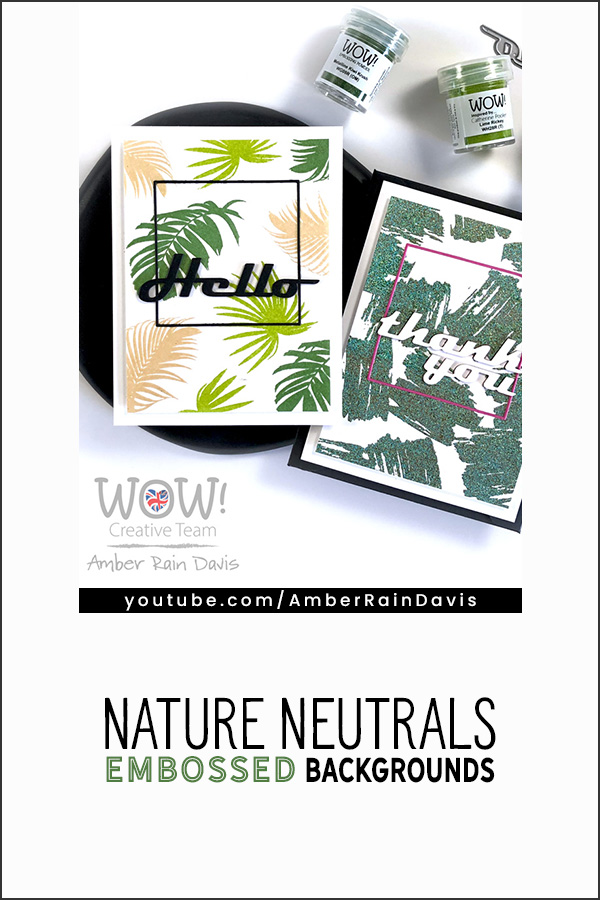 PINTEREST | Nature Neutrals Embossed Backgrounds