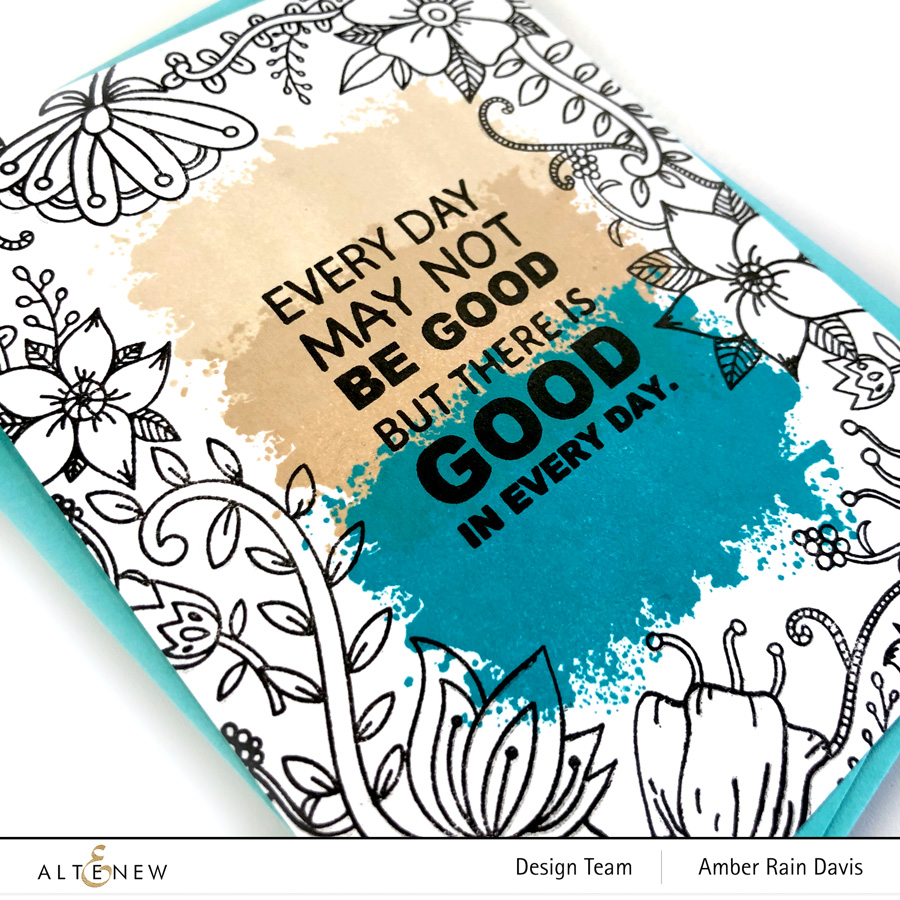 Altenew Whimsical Flowers & Quotes Stamp Set