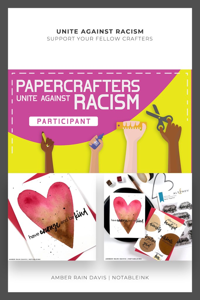 PINTEREST | Papercrafters Unite Against Racism