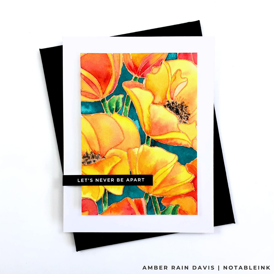 Watercolor Simon Says Stamp Poppies Background