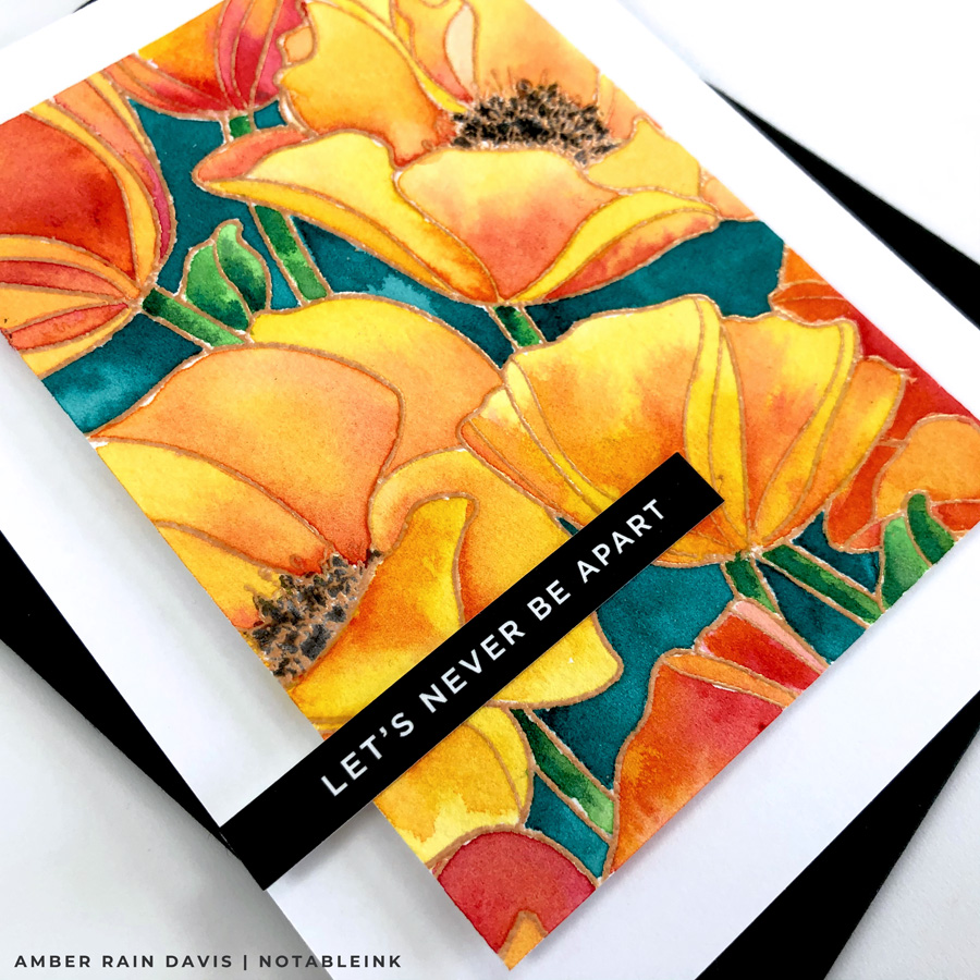 Watercolor SSS Poppies Background