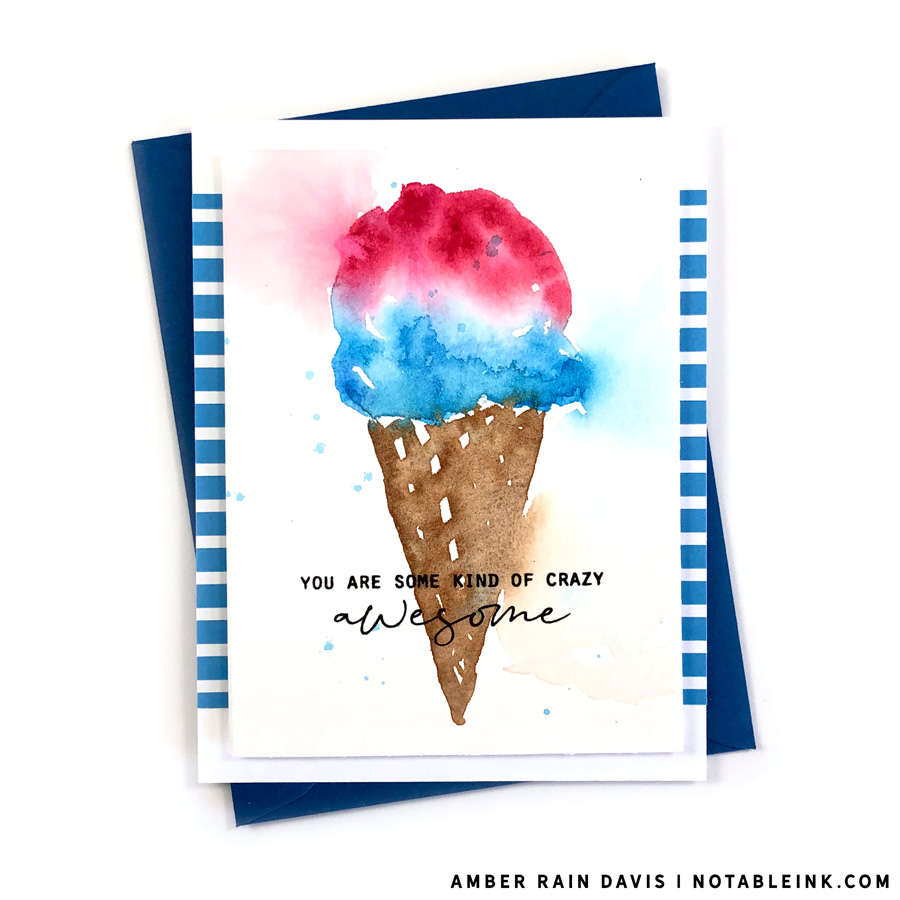 Must Try Easy Watercolor Ice Cream sweet treat