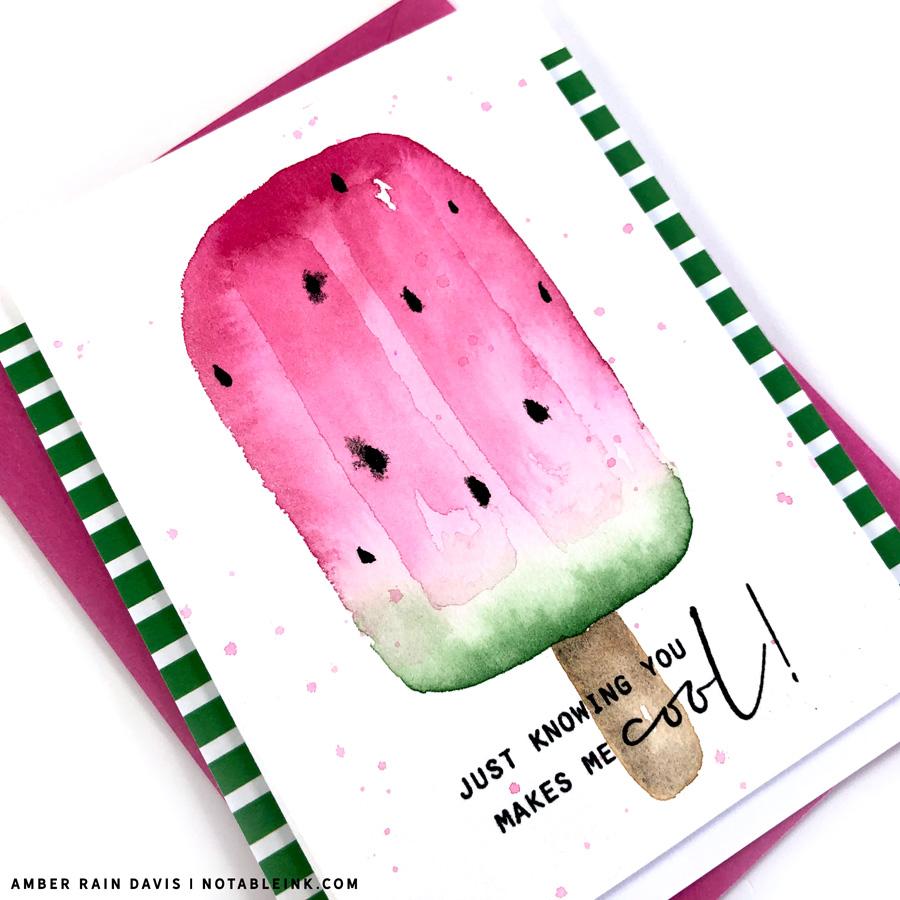watermelon popsicle watercolor