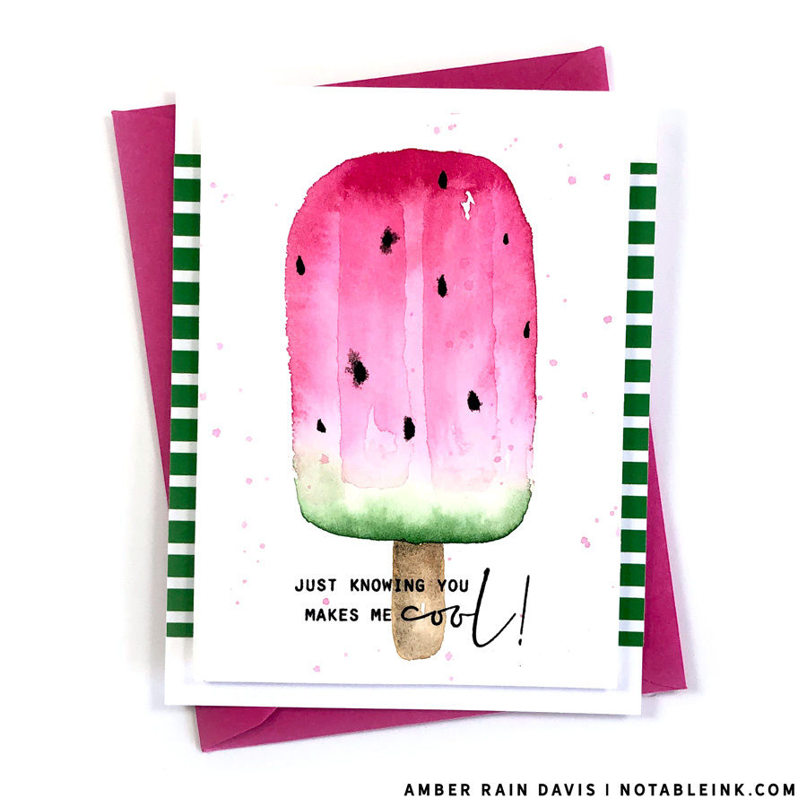 Must Try Easy watercolor popsicle sweet treat
