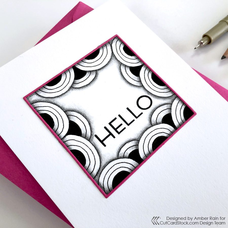 Eye-Catching Zentangle Cards | Crescent Moon