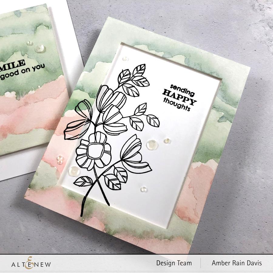 Altenew Weekend Doodles | Watercolor + Doodles with stamps
