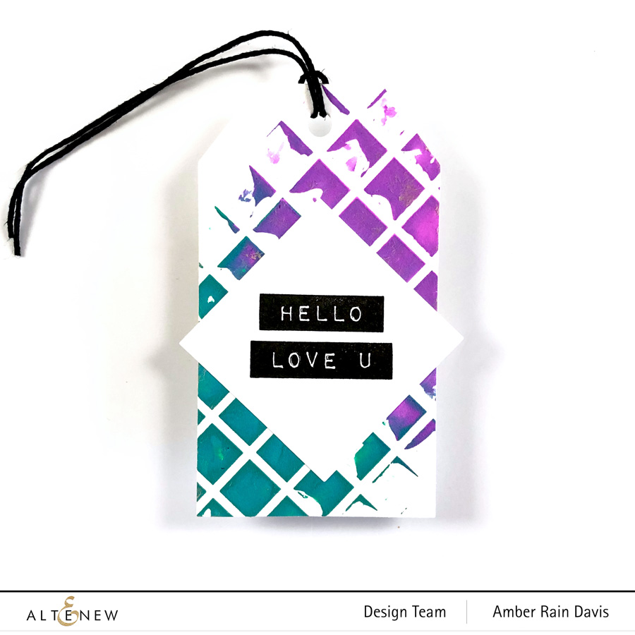 Altenew Trellis Stencil & Label Love Stamp Set