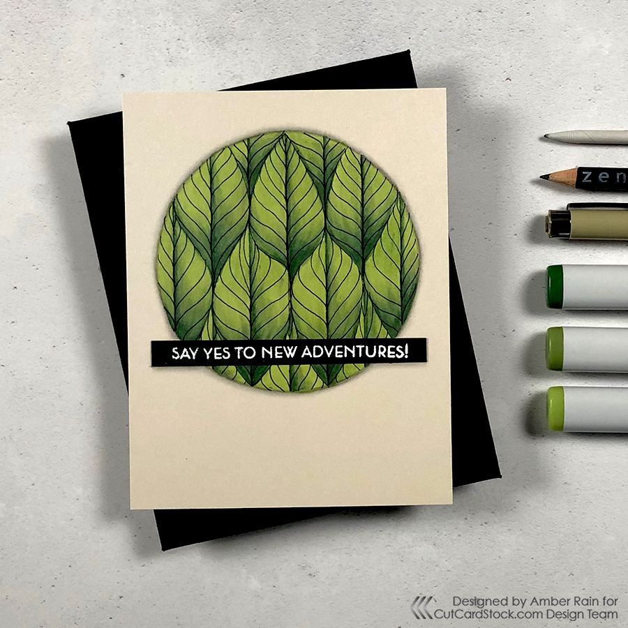 Trendy Tropical Zentangle® Card
