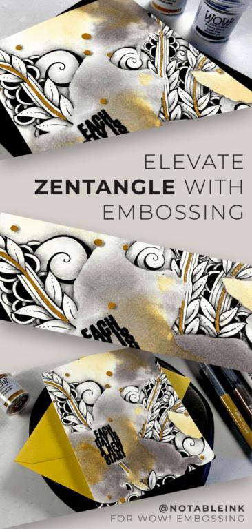 PINTEREST | Elevate Zentangle with Heat Embossing