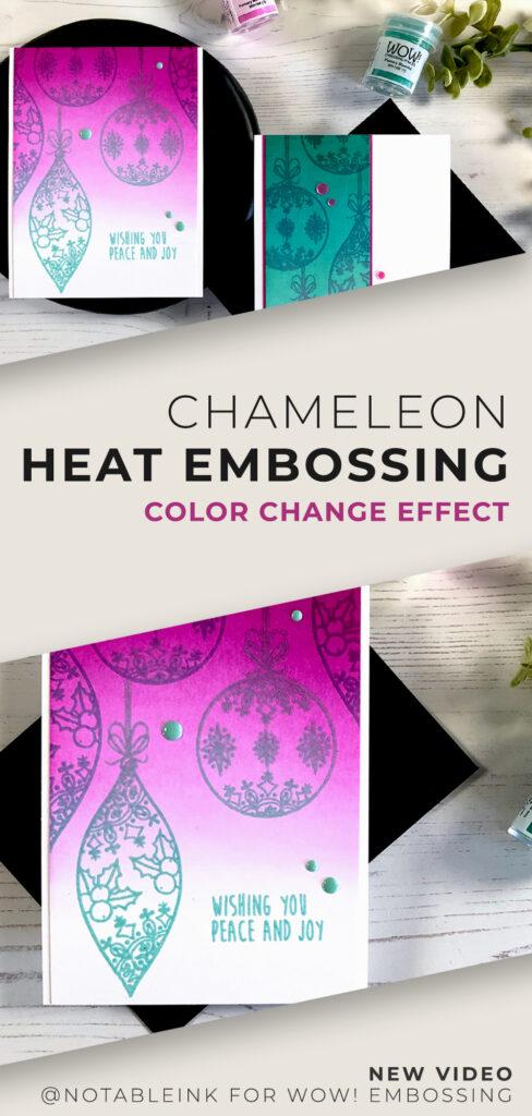 Chameleon Heat Embossing | Color Change Effect