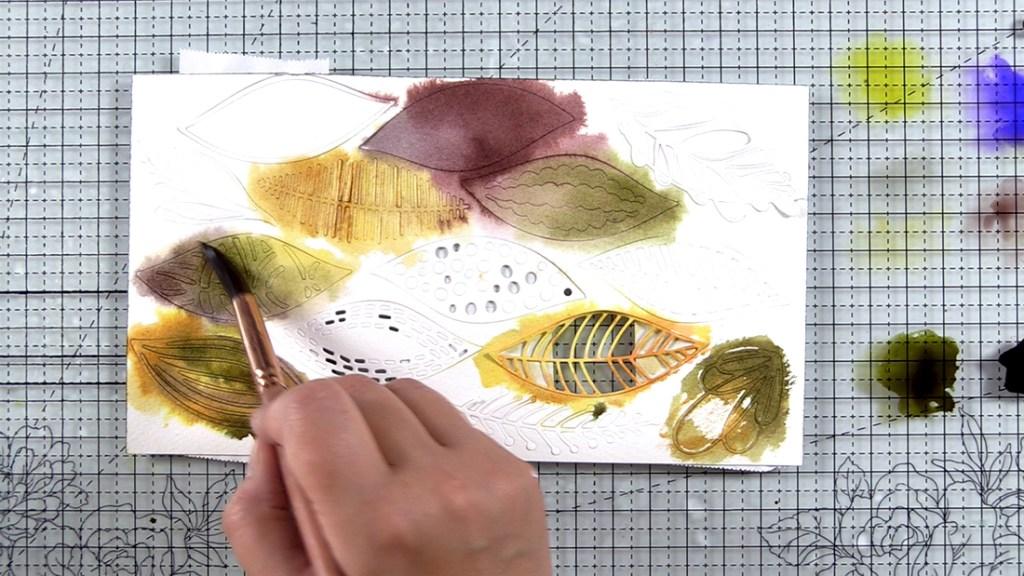 Autumn Festival Watercolor Leaf Mix Die-Cuts