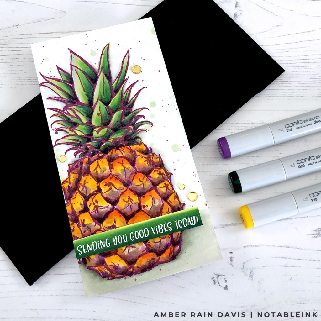Easy Copic Coloring With A Twist | Aloha Pineapple