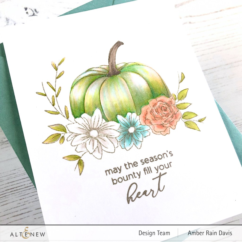 Altenew Autumn Bounty Stamp Set | Amazing Pastel Chic