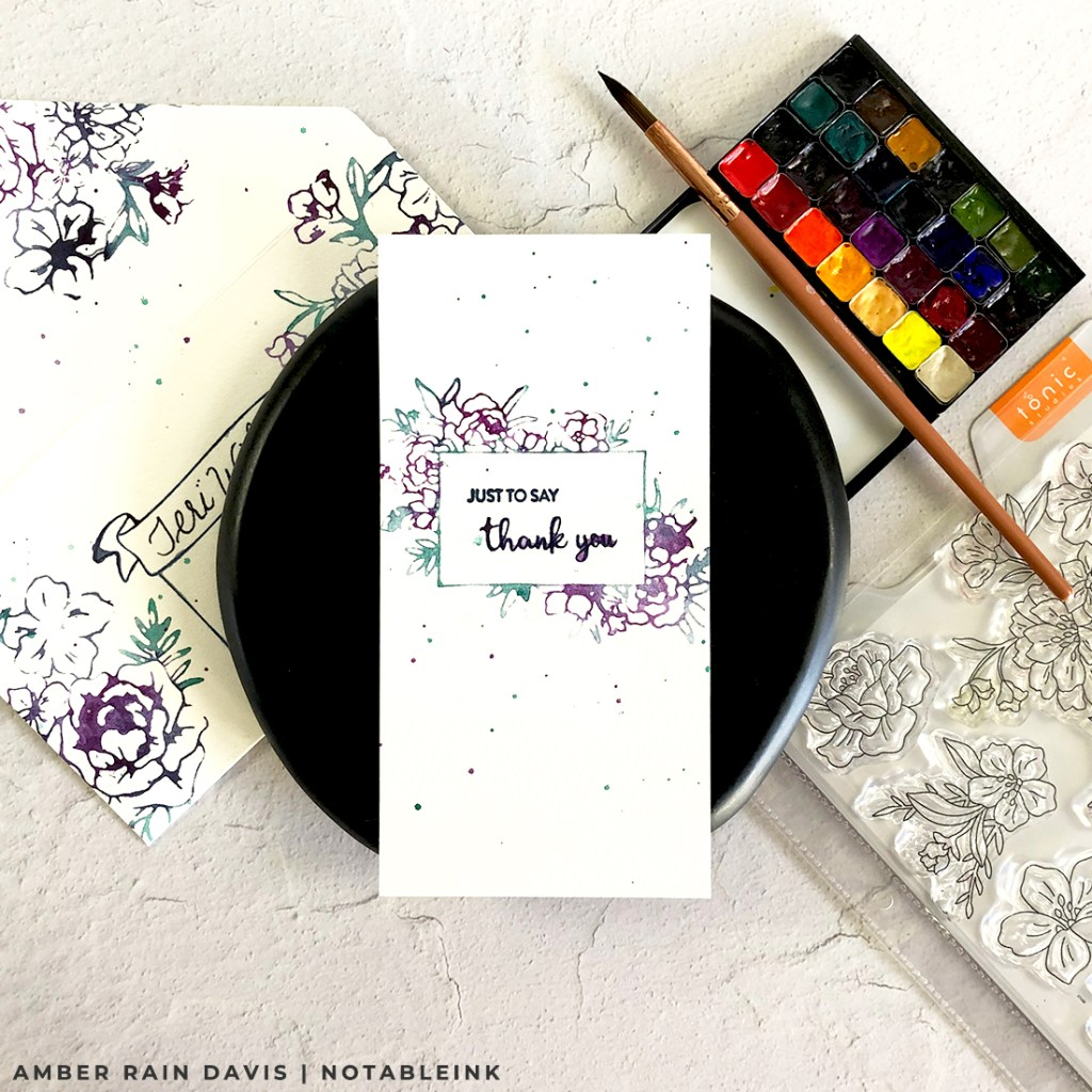 Easy Watercolor Stamping Two Ways | Custom Envelope