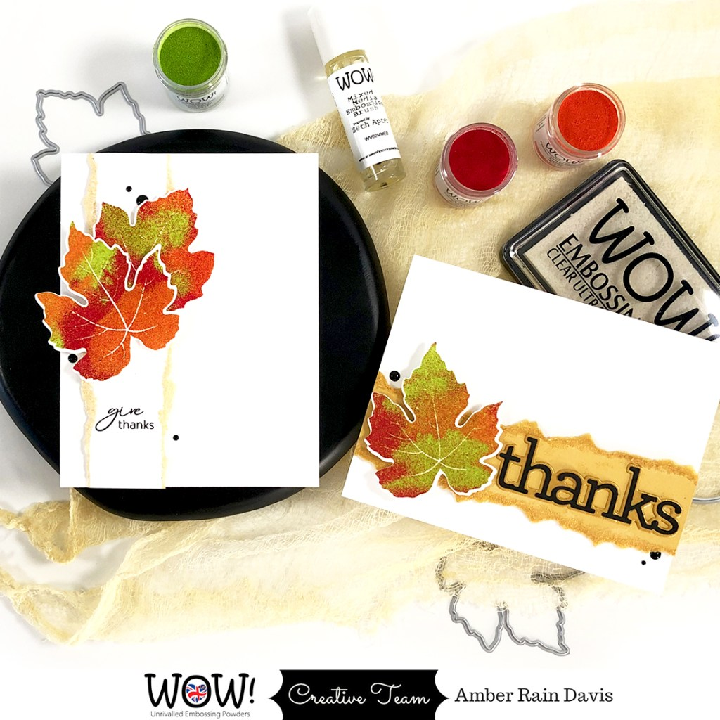 How To Mix WOW! Embossing Powders for Vibrant Fall Cards