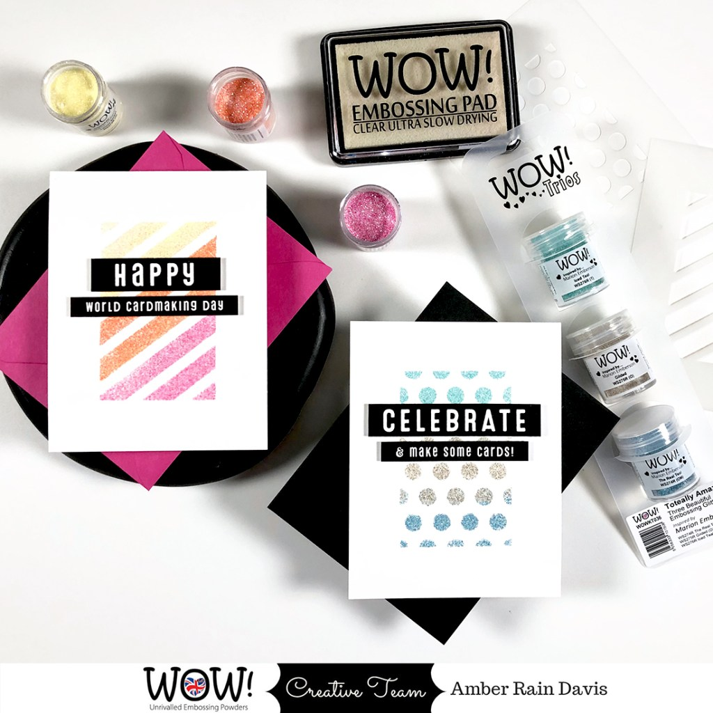 Clean & Simple Heat Embossing | World Cardmaking Day