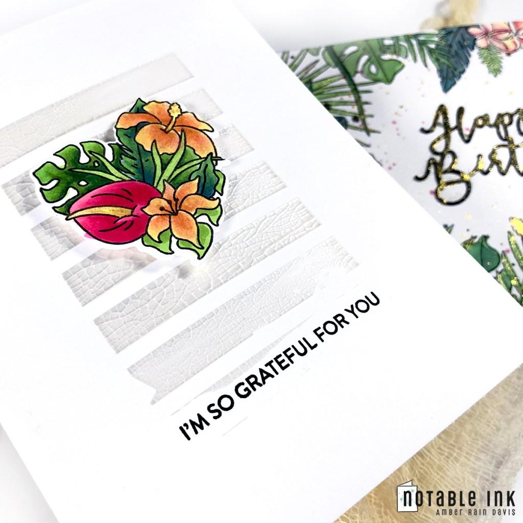 Copic Floral Centerpiece CAS Card