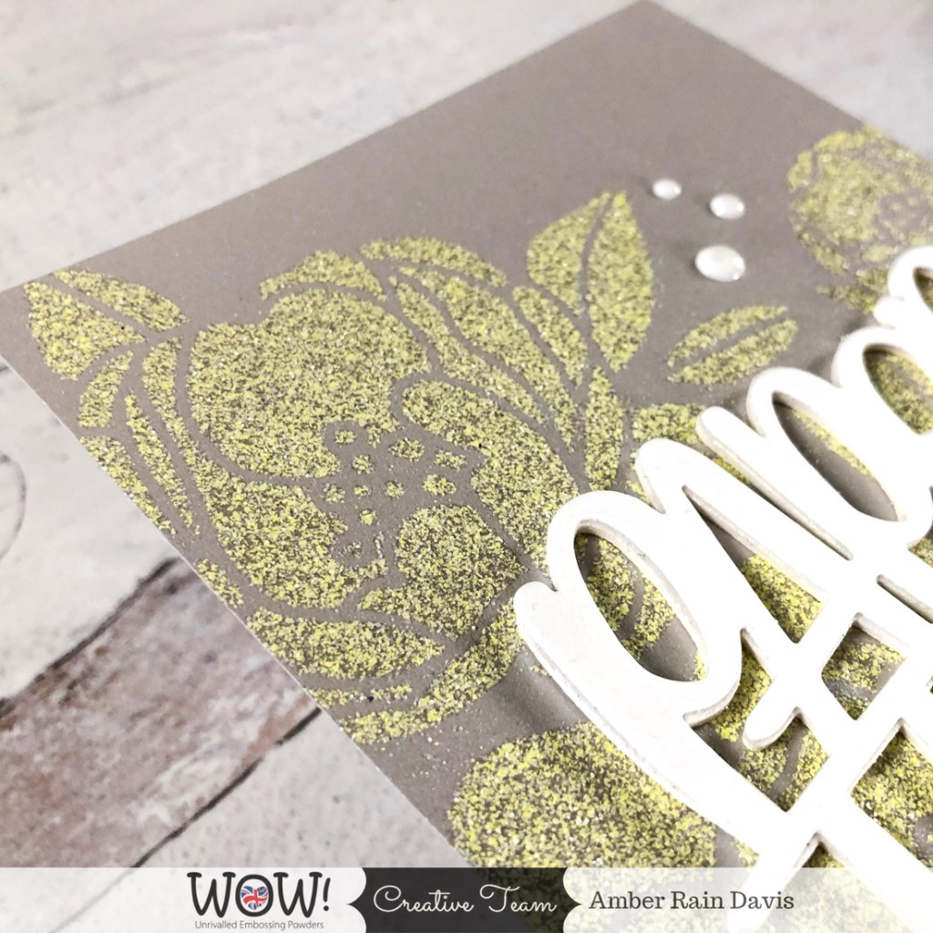 Stencil Heat Embossing | Pantone Color Of The Year 2021