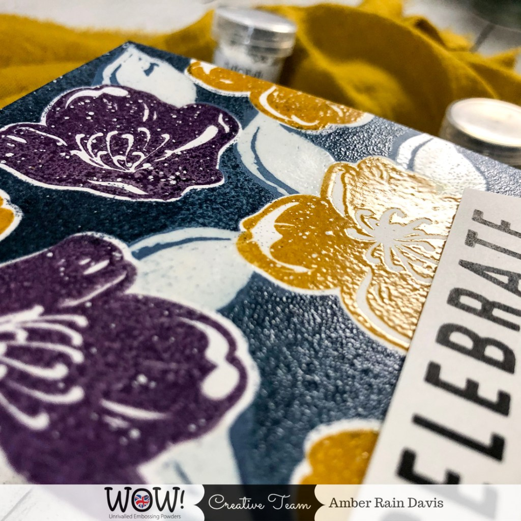 Heat Emboss Backgrounds with Silhouette Stamps