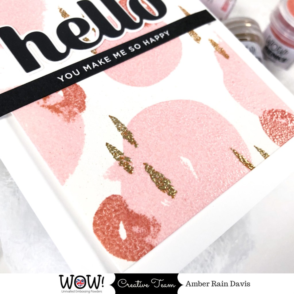 watercolor with embossing powder