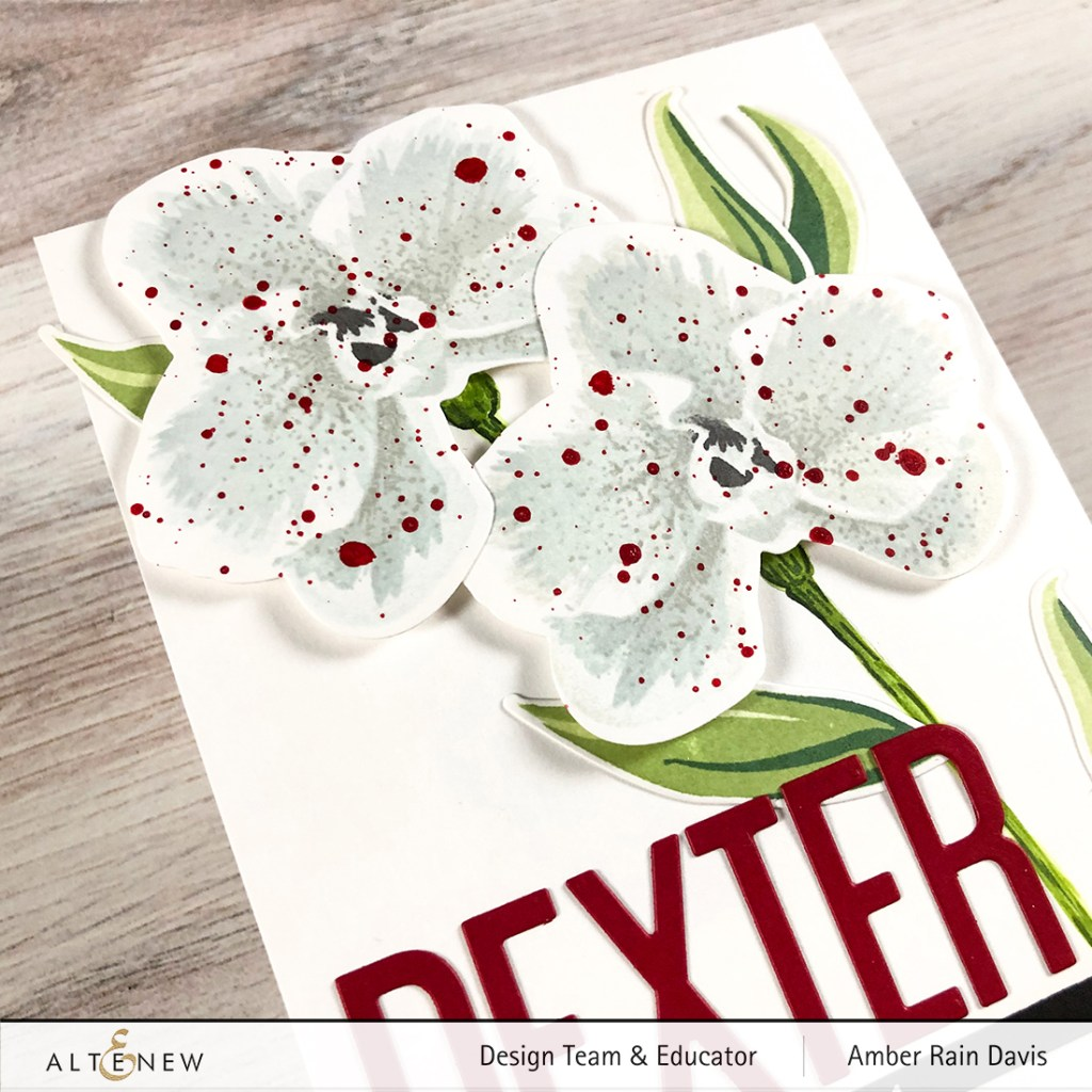 Layer Stamp White Flowers