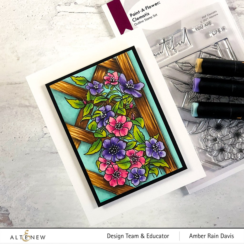 10 Tips in 10 Minutes | Artist Marker coloring of Paint-A-Flower: Clematis