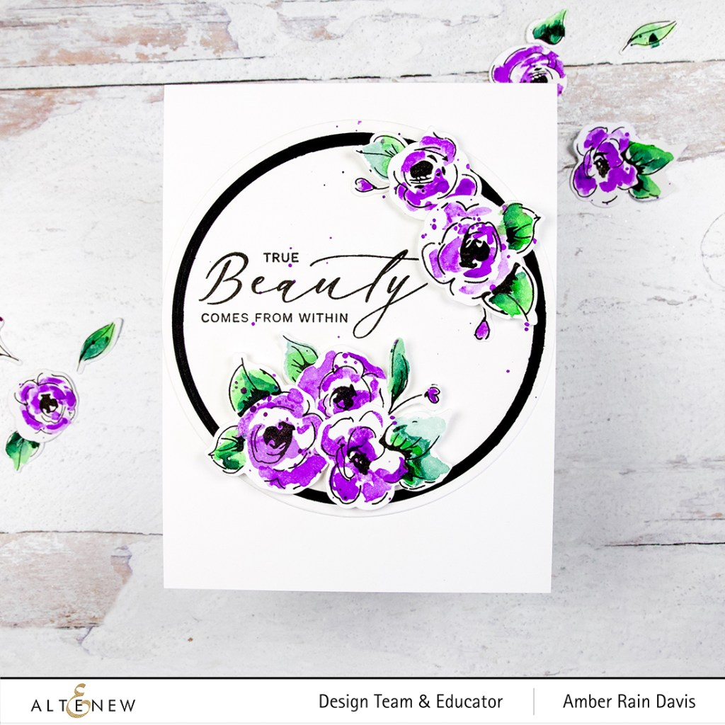 Case Your Own Card | Altenew Painted Flowers