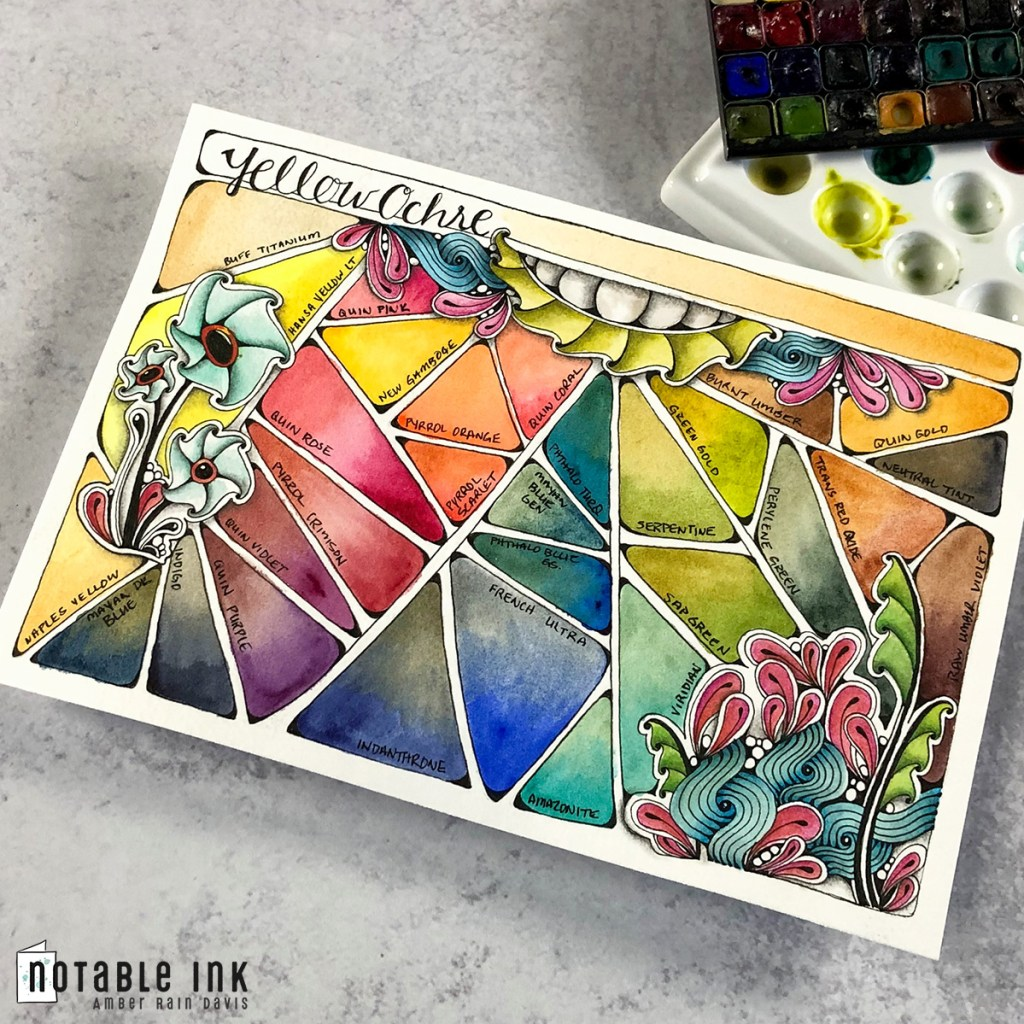 Zen Watercolor Swatch Stamp Collection 1