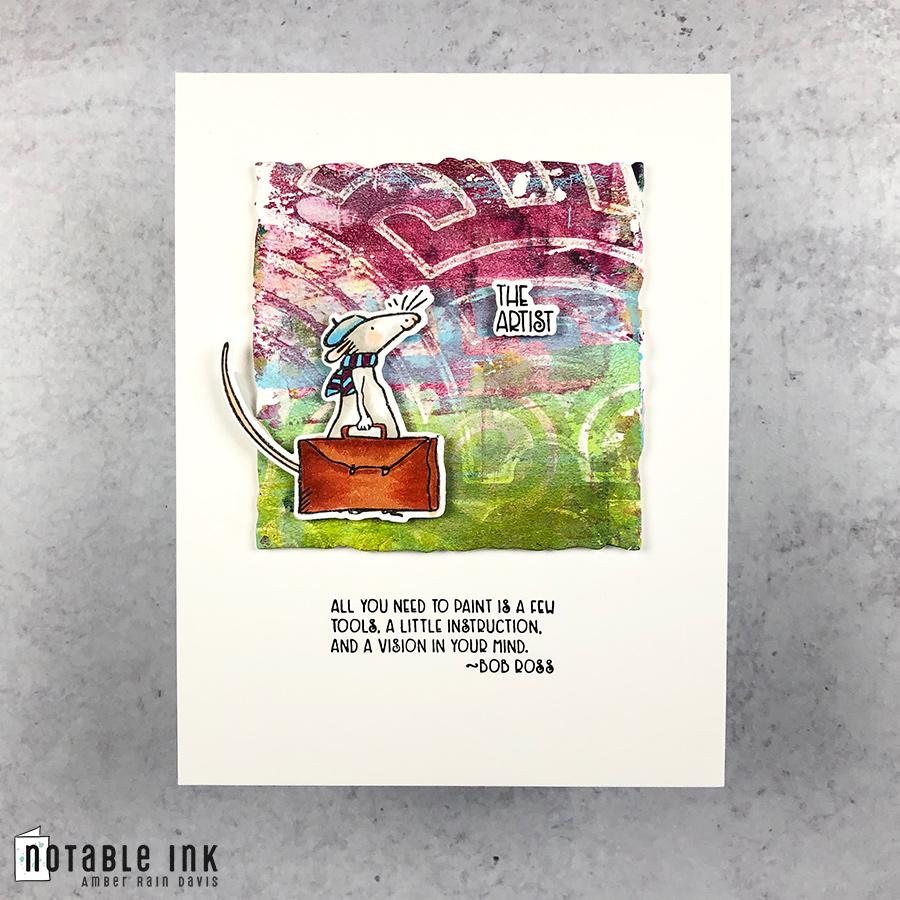Colorado Craft Company The Artist Mini Stamp Set